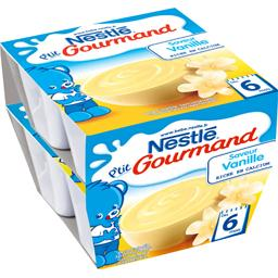 P'tit Gourmand - Dessert saveur vanille, 6+ mois
