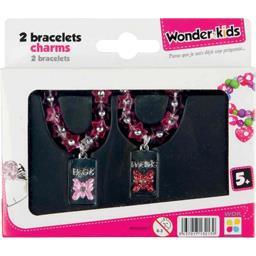 Bracelets Charms métal, modèles assortis
