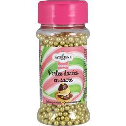 Perles dorées en sucre