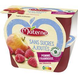 Materne Sans Sucres Ajoutés - Spécialité pomme framboise les 4 pots de 100 g