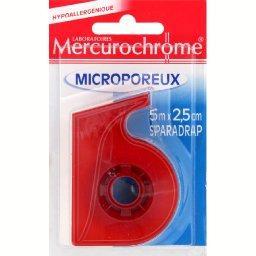 Mercurochrome Sparadrap microporeux spécial peaux sensibles