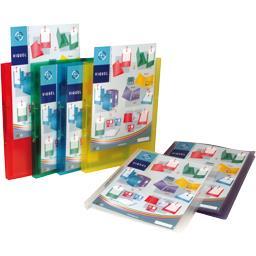 Classeur cahier A4 propyglass coloris assortis