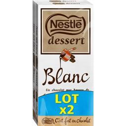 Nestlé Grand Chocolat Dessert - Chocolat blanc le tablettes de 180 g