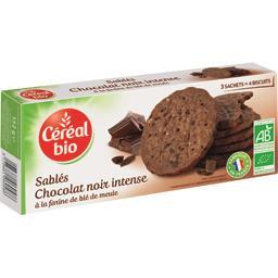 Sablés chocolat noir intense à la farine de blé de m...