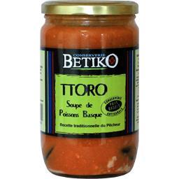 Betiko Soupe de poissons basque Ttoro le bocal de 600 g