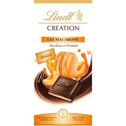 Lindt Création - Chocolat noir Les Macarons abricot la tablette de 150 g