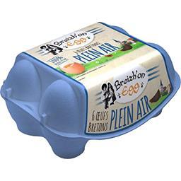 Breizh'on Egg Œufs bretons plein air la boite de 6