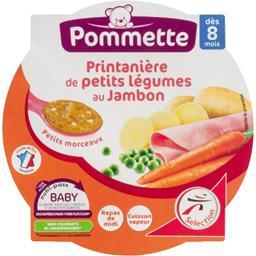 Printanière de légumes et jambon, dès 8 mois,POMMETTE,l'assiette de 200g