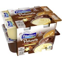 Crème dessert chocolat/caramel/saveur vanille