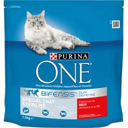 Purina One Purina One Croquettes Bifensis au bœuf spécial chat stérilisé