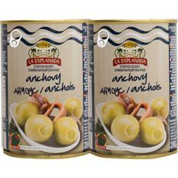 Olives vertes farcies anchois