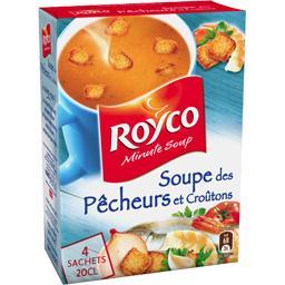 Soupe déshydratée des pêcheurs avec des croûtons,ROYCO,la boite de 4 sachets - 64g