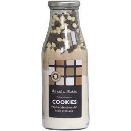 Préparation pour cookies pépites de chocolat noir et blanc
