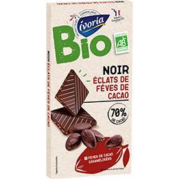 Chocolat noir éclats de fèves de cacao BIO