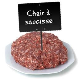 Chair à saucisse nature maison