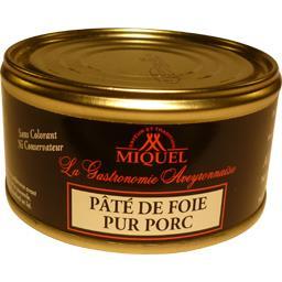 Miquel Pâté de foie pur porc la boite de 190 g