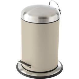 Poubelle 3 l à pédale métal Organic beige