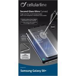 Protection verre trempé bord noir Samsung Galaxy S8 Plus