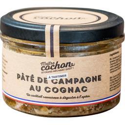 Pâté de campagne au cognac, les p'tites marmites, 180 gr, bocal, Sodiporc