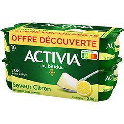 Danone Danone Activia - Lait fermenté au bifidus saveur citron