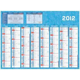 Calendrier 16 mois, de sept 2011 à déc 2012, grand modèle