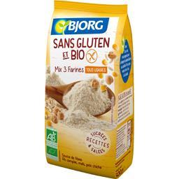 Bjorg Mix 3 farines tous usages sans gluten et BIO le sachet de 500 g