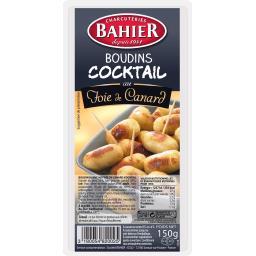 Bahier Boudins Cocktail au foie de canard les 15 boudins de 10 g