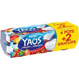 Nestlé Yaos - Le Yaourt à la grecque sur lit de fraises les 4 pots de 125 g