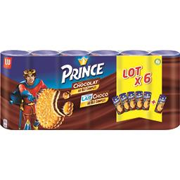 Prince - Biscuits fourrés goût chocolat et goût lait...