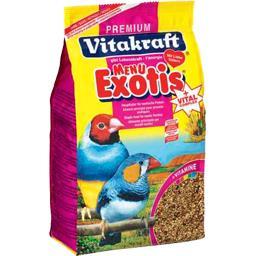 Menu pour oiseaux exotiques