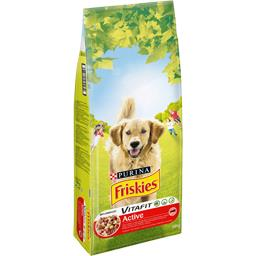 Croquettes Vitafit Active  au bœuf pour chiens adult...