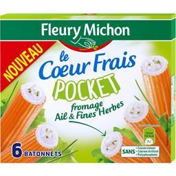 Bâtonnets surimi pocket cœur frais ail et fines herbes
