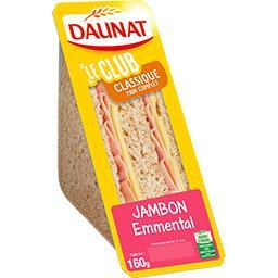 Sandwich jambon emmental, pain complet, la barquette...