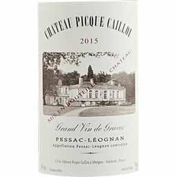 Pessac-Léognan Château Pique Caillou vin Rouge 2015