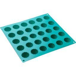 Plaque 30 mini cannelés coloris assortis