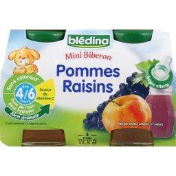 Mini Biberon - Boisson fruitée pommes raisins, dès 4/6 mois