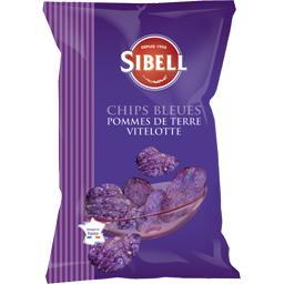 Chips bleues pommes de terre Vitelotte