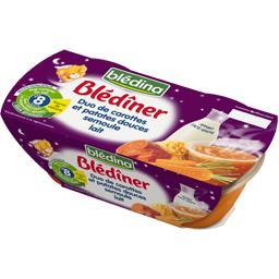 Blédîner - Duo de carottes et patates douces semoule...