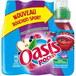 Pocket - Boisson à l'eau de source pomme/cassis/framboise