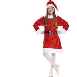 Costume enfant Mère-Noël taille 4-6 ans