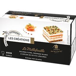 Le Millefeuille saumon fumé fromage blanc & petits l...