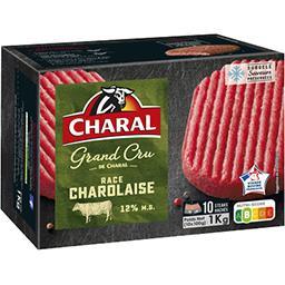 Charal Steaks hachés Le Grand Cru pur bœuf charolais