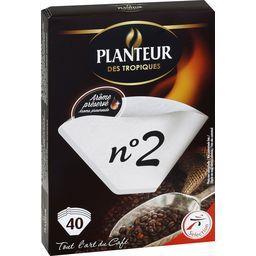 Filtres à café n°2, 100% fibres végétales