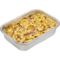Gratin de pâtes bacon aux 3 fromages