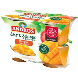 Sans Sucres Ajoutés - Dessert de fruits mangues morc...