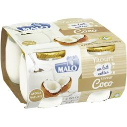 Yaourt sucré au lait entier saveur coco