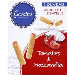 Mini-flûte dentelle tomates & mozzarella