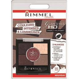 Rimmel London Glam'Eyes HD - Ombre à paupières 022 Brixton Brown la boite de 3,8 g