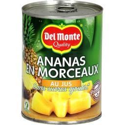 Ananas en morceaux au jus sans sucres ajoutés