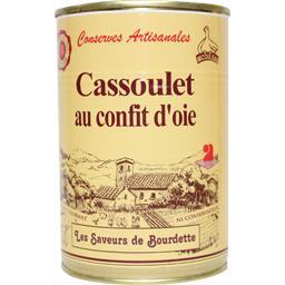 Saveurs de bourdette Cassoulet au confit d'oie La boîte de 420 gr